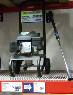 New, Low-Cost Gas Pressure Washers